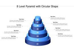 8 Level Pyramid With Circular Shape