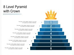 8 Level Pyramid With Crown