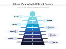 8 Level Pyramid With Different Colours