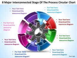 8 Major Interconnected Stage  Of The Process Circular Chart Templates ppt presentation slides 812