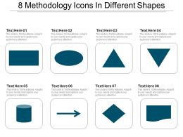 8 Methodology Icons In Different Shapes