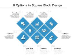 8 Options In Square Block Design