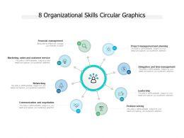8 Organizational Skills Circular Graphics