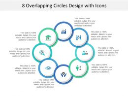 8 Overlapping Circles Design With Icons