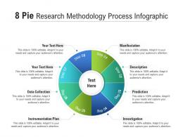 8 Pie Research Methodology Process Infographic