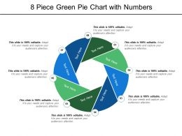 8 Piece Green Pie Chart With Numbers