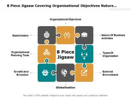 8 Piece Jigsaw Covering Organisational Objectives Nature Business