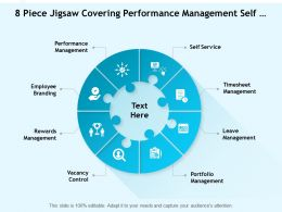 8 Piece Jigsaw Covering Performance Management Self Service Vacancy Control