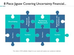 8 Piece Jigsaw Covering Uncertainty Financial Management Customer Service