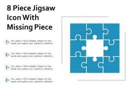 8 Piece Jigsaw Icon With Missing Piece