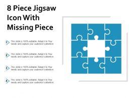 8 Piece Jigsaw Icon With Missing Piece
