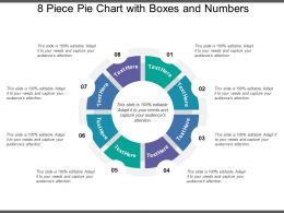 8 Piece Pie Chart With Boxes And Numbers