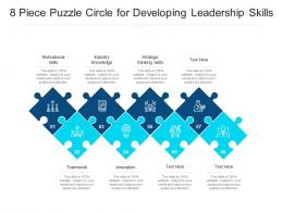 8 Piece Puzzle Circle For Developing Leadership Skills