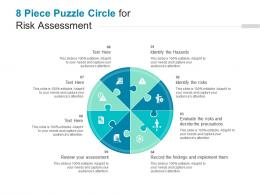8 Piece Puzzle Circle For Risk Assessment