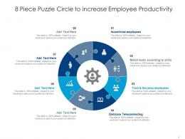 8 Piece Puzzle Circle To Increase Employee Productivity