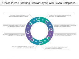 8 Piece Puzzle Showing Circular Layout With Seven Categories Of Icon Option8
