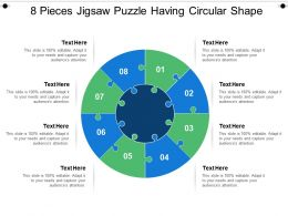 8 Pieces Jigsaw Puzzle Having Circular Shape