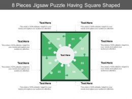 8 Pieces Jigsaw Puzzle Having Square Shaped