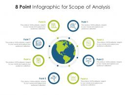 8 Point Infographic For Scope Of Analysis Template