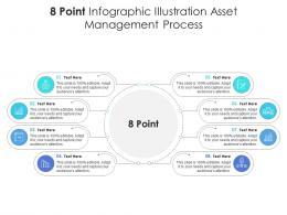 8 Point Infographic Illustration Asset Management Process Template