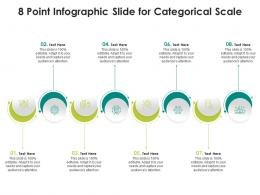 8 Point Infographic Slide For Categorical Scale Template