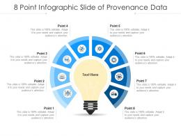 8 Point Infographic Slide Of Provenance Data Template