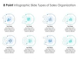 8 Point Infographic Slide Types Of Sales Organization Template