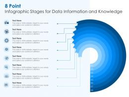 8 Point Infographic Stages For Data Information And Knowledge Template