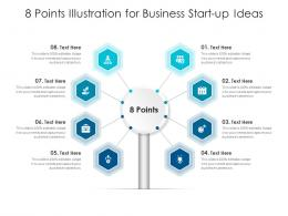 8 Points Illustration For Business Start Up Ideas Infographic Template