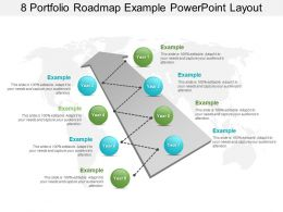 8 Portfolio Roadmap Example Powerpoint Layout