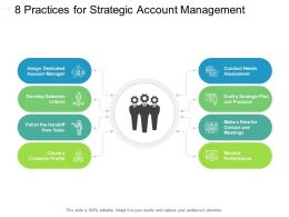 8 Practices For Strategic Account Management