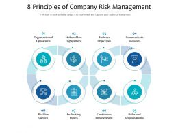8 Principles Of Company Risk Management
