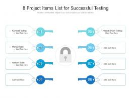 8 Project Items List For Successful Testing