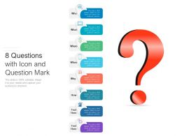 8 Questions With Icon And Question Mark