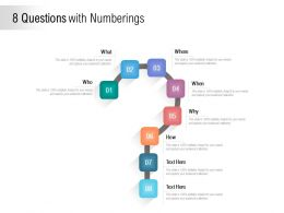 8 Questions With Numberings