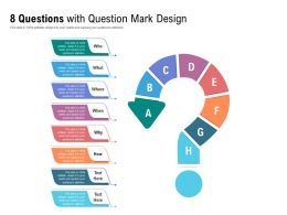 8 Questions With Question Mark Design