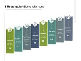 8 Rectangular Blocks With Icons