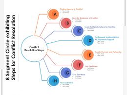 8 Segment Circle Exhibiting Steps For Conflict Resolution
