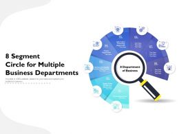 8 Segment Circle For Multiple Business Departments