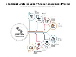 8 Segment Circle For Supply Chain Management Process
