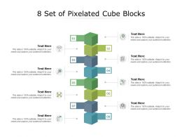 8 Set Of Pixelated Cube Blocks