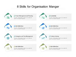 8 Skills For Organisation Manger