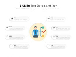 8 Skills Text Boxes And Icon