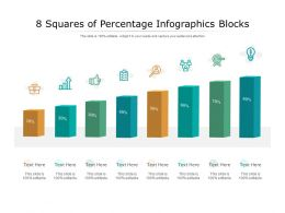 8 Squares Of Percentage Infographics Blocks