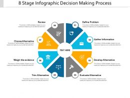 8 Stage Infographic Decision Making Process