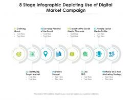 8 Stage Infographic Depicting Use Of Digital Market Campaign