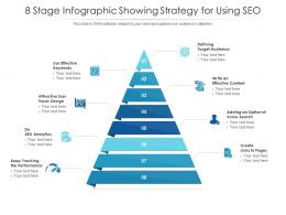 8 Stage Infographic Showing Strategy For Using SEO