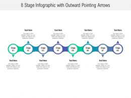 8 Stage Infographic With Outward Pointing Arrows