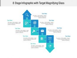 8 Stage Infographic With Target Magnifying Glass