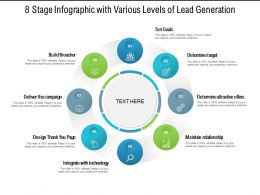 8 Stage Infographic With Various Levels Of Lead Generation